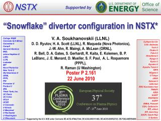 """Snowflake"" divertor configuration in NSTX*"