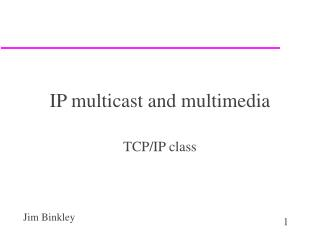 IP multicast and multimedia