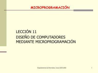 MICROPROGRAMACIÓN