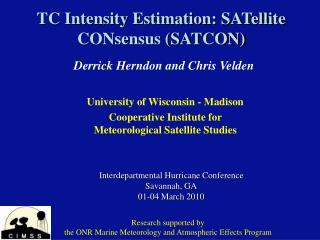 TC Intensity Estimation: SATellite CONsensus (SATCON)