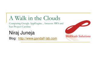 A Walk in the Clouds Comparing Google AppEngine , Amazon AWS and  Sun Project Caroline