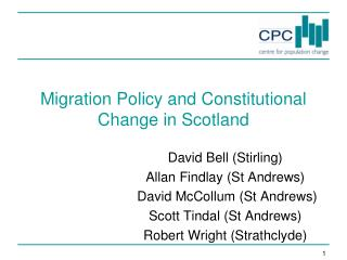 Migration Policy and Constitutional Change in Scotland