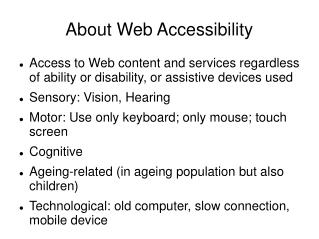 About Web Accessibility