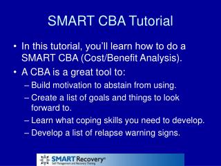SMART CBA Tutorial
