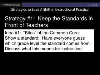 Strategies to Lead A Shift in Instructional Practice