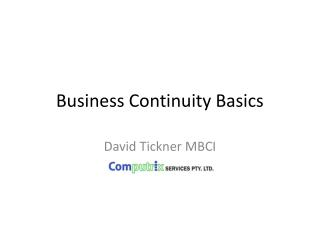 Business Continuity Basics