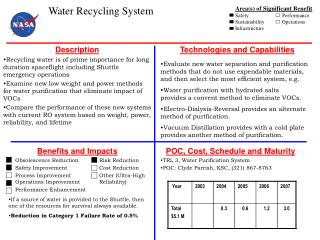 Benefits and Impacts  Obsolescence Reduction Risk Reduction  Safety Improvement Cost Reduction  Process Improvement Othe