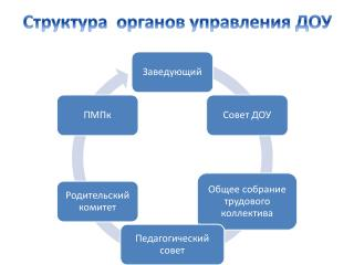 Структура  органов управления ДОУ