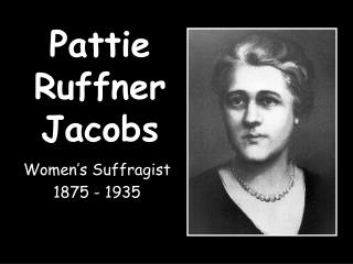 Pattie Ruffner Jacobs