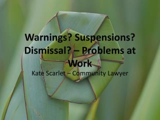 Warnings? Suspensions? Dismissal? – Problems at Work