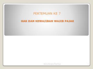 PERTEMUAN KE  7