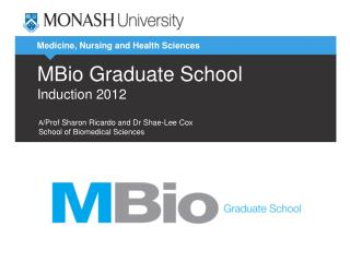 MBio Graduate School Induction 2012