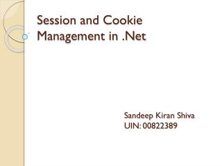 Session and Cookie Management in .Net
