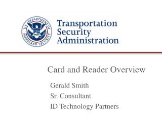 Card and Reader Overview