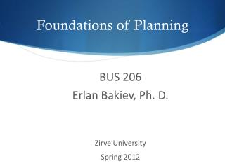 Foundations of Planning