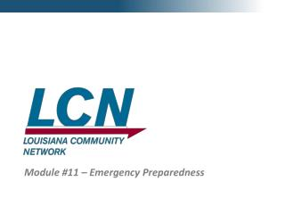 Module #11 – Emergency Preparedness