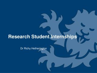 Research Student Internships