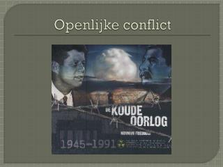 Openlijke conflict