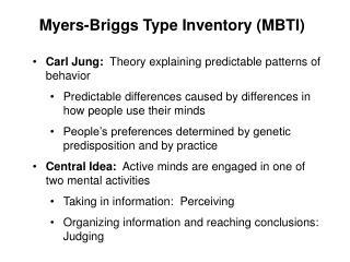 Myers-Briggs Type Inventory (MBTI)
