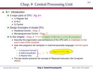Chap. 8  Central Processing Unit