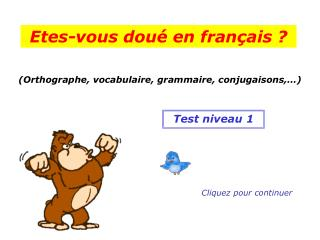 (Orthographe, vocabulaire, grammaire, conjugaisons,�)