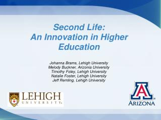 Second Life: An Innovation in Higher Education