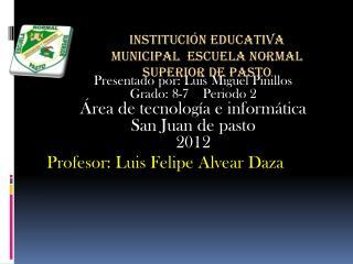 Presentado por: Luis Miguel Pinillos Grado: 8-7    Periodo 2 Área de tecnología e informática