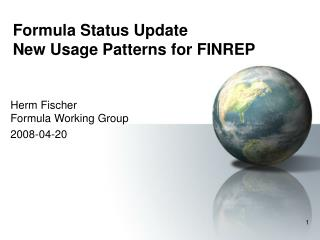 Formula Status Update New Usage Patterns for FINREP