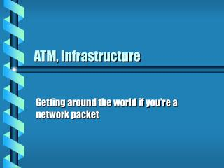 ATM, Infrastructure