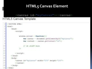 HTML5 Canvas Element