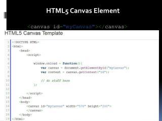 HTML5 Canvas Element