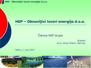 HEP – Obnovljivi izvori energije d.o.o.