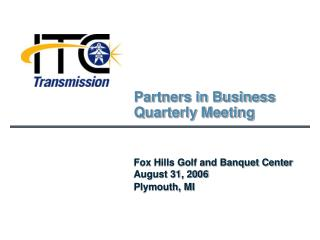 Partners in Business Quarterly Meeting