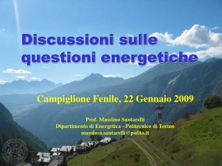 Discussioni sulle questioni energetiche
