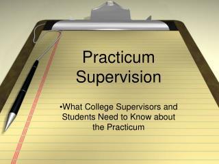 Practicum Supervision