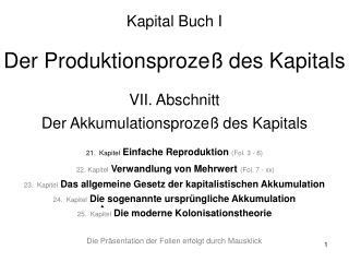 Der Entwicklungsgang Der Produktionsprozeß des Kapitals