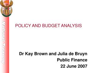POLICY AND BUDGET ANALYSIS