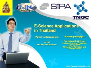 E-Science Applications  in Thailand