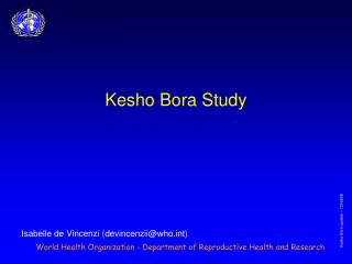 Kesho Bora Study