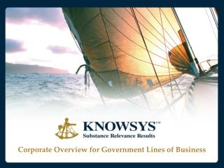 Corporate Overview for Government Lines of Business