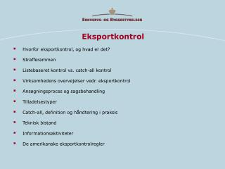 Eksportkontrol