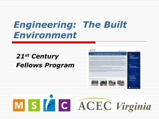 Engineering:  The Built Environment