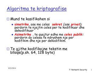 Algoritma te kriptografise