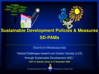 Sustainable Development Policies & Measures  SD-PAMs