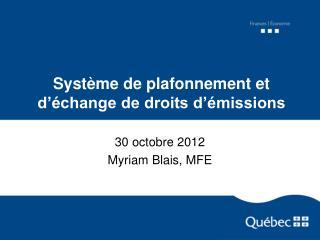 Système de plafonnement et d'échange de droits d'émissions