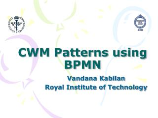 CWM Patterns using BPMN