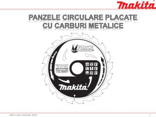 PANZELE  circulare  placate CU CARBURI METALICE