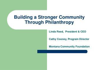 Building a Stronger Community Through Philanthropy