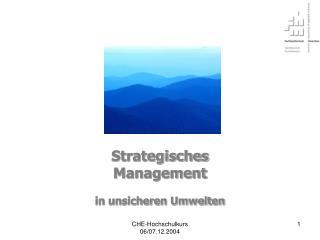 Strategisches Management in unsicheren Umwelten