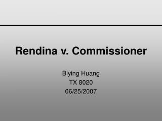 Rendina v. Commissioner